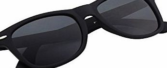 CGID Polarised Wayfarer Sunglasses - Black Cat 4 Lenses Offering Full UV400 Protection - Available in 4 Colours - Complete with Cleaning Cloth amp; Waterproof Pouch - Ideal For Driving - Unisex,Matte