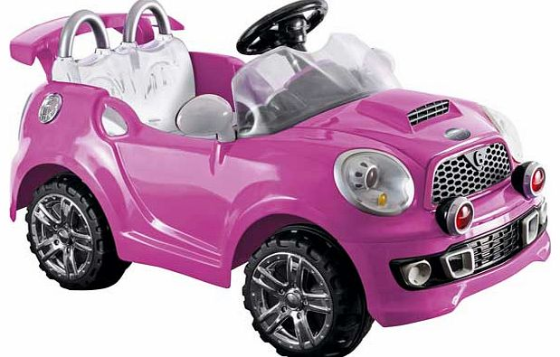 6V Pink Cabriolet Powered Vehicle