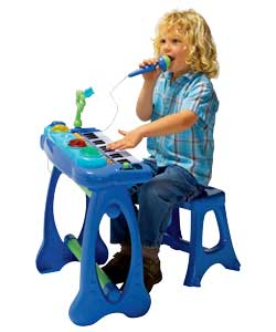 chad valley FunDamentals Singalong Keyboard and Stool - Blue