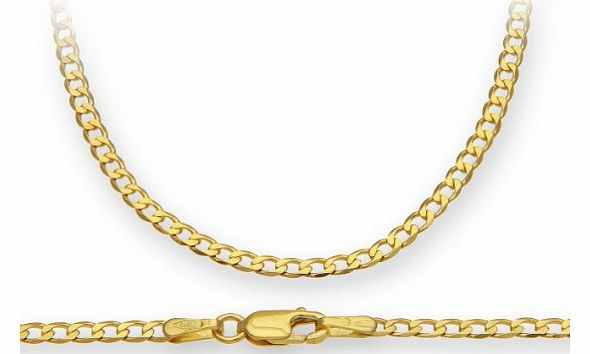 9ct Yellow Gold 3.5g Curb Necklace of 51 cm/20 Inch Length and 2.3mm Width
