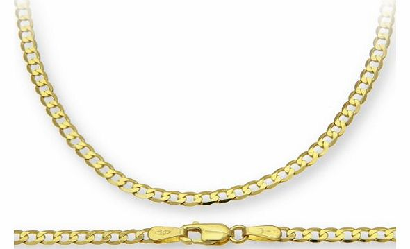 9ct Yellow Gold 5.3g Curb Necklace of 61 cm/24 Inch Length and 2.7mm Width