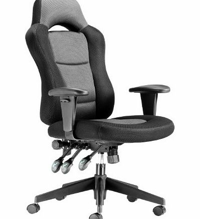 Chairs For Offices 130032GK Heavy Duty Ergonomic Racing Style Computer Office Chair with Headrest Grey Black Free 3 day Delivery