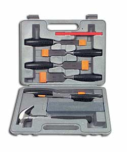 9 Piece Chisel- Stone and Hammer Set