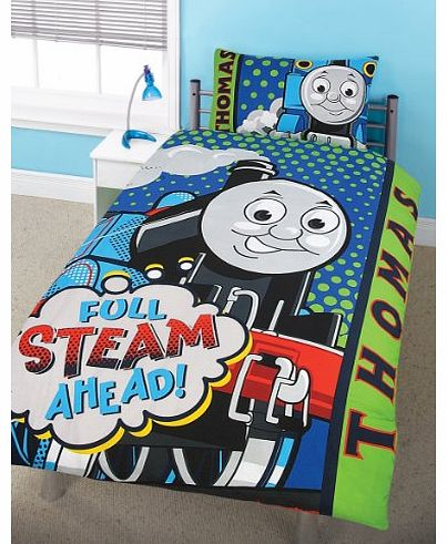 Character Bedding Thomas the Tank Engine Duvet Set (Official) - Steam - Single