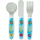 Bob The Builder 3pc Childrens Cutlery Set - Stainless Steel