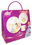 Disney Princess Crowned With Beauty Boxed Gift Set - Plate, Bowl and Cup