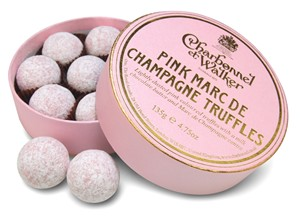 Pink Champagne truffles -
