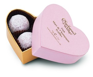 Pink heart Champagne truffles