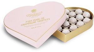 Valentines Pink Marc de Champagne truffle Gift Box