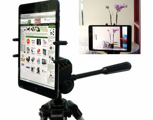 Charger-City Exclusive Apple iPad Mini Samsung Galaxy Tab 2 II 7`` to 8`` Tablet Tripod MonoPod Video Camera Adapter Mount with 1/4-20 Thread Adapter amp; 360 Degrees Angle Adjustment Holder (IPAD MINI