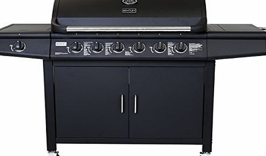 Charles Bentley 7 Burner Premium Gas Bbq Steel Barbecue With Wheels (6X Burner   1X Side Burner) - Available In Black amp; Grey