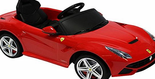 Charles Bentley Ferrari F12 Berlinetta 6V Licensed Childrens Kids Ride On Electric Remote Toy Car - Red