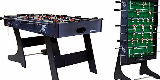 Charles Bentley Premium 4ft Folding Football Table Games Table Foosball Sports
