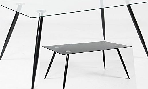 Charles Jacobs Glass Kitchen Lounge Dining Table - Rectangular modern 2017- Range of colours Available (White)