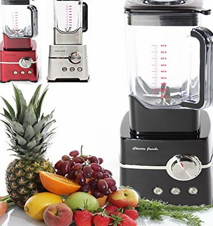Charles Jacobs High Gloss Commercial BLENDER Powerful 2000W Motor Professional Fruits Mixer, Smoothie, Processor with 2L Jug - 12 Month 5 STAR Warranty (Black)