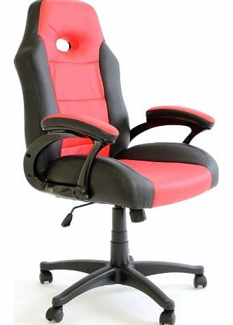 Luxury Office High Back Support Gaming Chair in Black&Red +Tilt Lock Mechanism