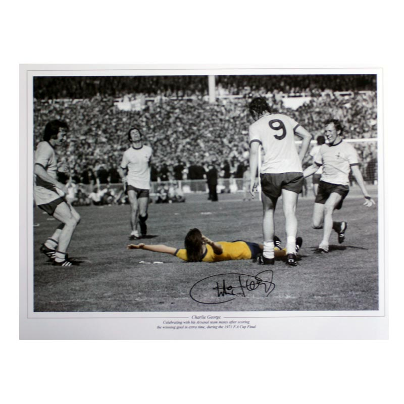 George Signed Arsenal Print: 1971 FA Cup Final