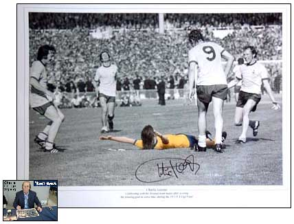 George signed print - 1971 FA Cup Final
