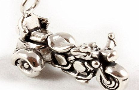Charm School UK Sterling Silver Goldwing Motor Trike Charm