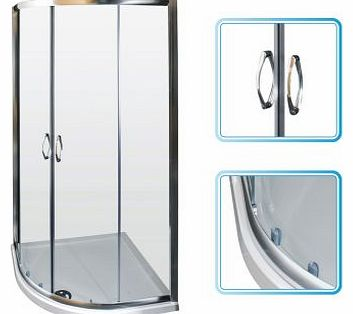 900mm Bathroom Glass Quadrant Corner