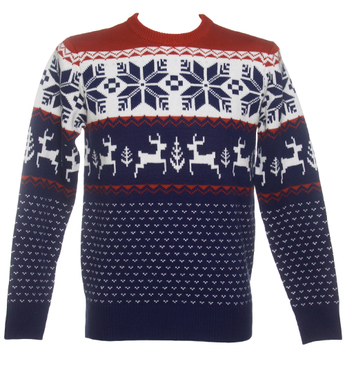 Unisex Blue Wonderland Knitted Christmas Jumper