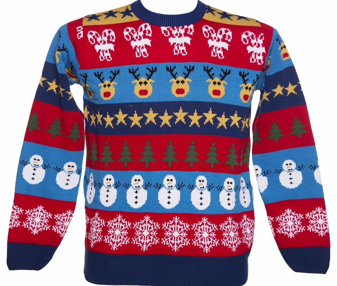 Unisex Retro Boxing Day Mashup Christmas Jumper