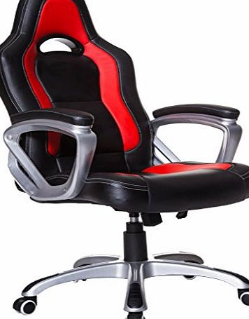 Cherry Tree Furniture Brand New Designed Racing Sport Gaming Swivel Office chair in Black Red Color