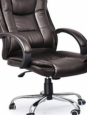 Cherry Tree Furniture Executive Extra Padded High Back Brown Color Office Chair BN14