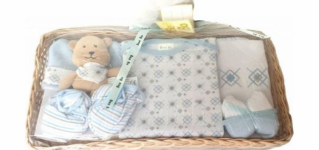 Chew2you Bee Bo Baby Tray Basket Gift Set 0-3 Months - Blue