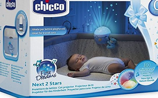 Chicco Blue Next2Stars Mobile Travel Cot Projector Fit Next2me Crib Fit all Travel Cot and Bednest Crib / Fast Delivery