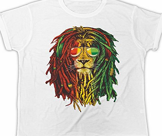 Chimpanzee FUNNY, RASTA REGGAE LION,SUNGLASSES,COOL,FASHION,DESIGNER HIPSTER PRINTED MENS T-SHIRT (LARGE)