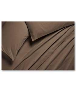chocolate Fitted Sheet Set Double Bed