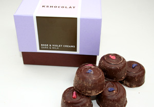 Kshocolat Rose and Violet Cream Gift Box