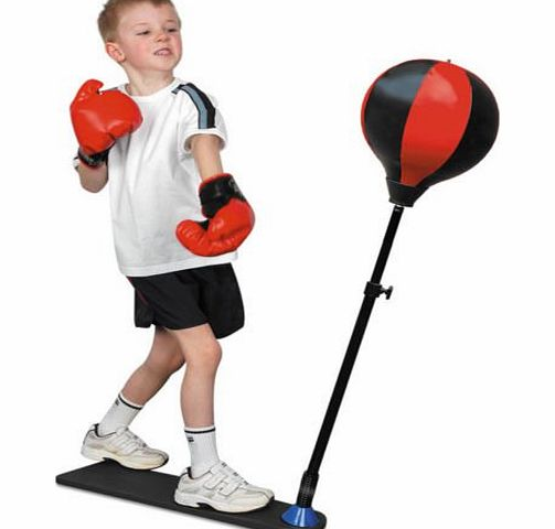 Brand NEW 80 - 120CM FREE STANDING KIDS ADJUSTABLE TRAINING BOXING PUNCH BALL amp; GLOVES