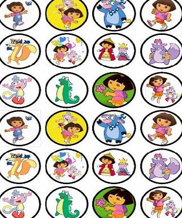 Cians Cupcake Toppers Dora The Explorer Edible PREMIUM THICKNESS SWEETENED VANILLA,Wafer Rice Paper Cupcake Toppers/Decorations