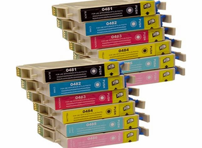 CiberDirect 12 CiberDirect Compatible Ink Cartridges for use with Epson Stylus Photo R300 Printers.