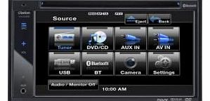 Clarion VX402E Double Din Multimedia Station with 6.2 inch High Resolution Display