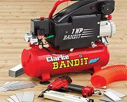 Clarke Bandit IV 8 Litre Air Compressor With Air Gun Kit