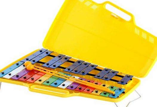 Classic Cantabile Soprano Chromatic Glockenspiel (Xylophone with 25 Keys, Case and 2 Beaters, Childrens Percussion Instrument)
