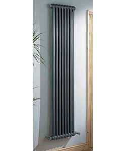 classic V Line 2 Column Silver Effect Radiator 1240 Watts