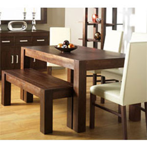 Lyon Walnut Dining Table 4 Brown
