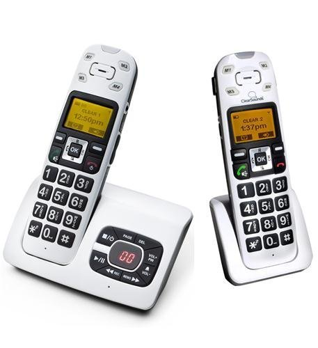 DECT Amplified Cordless Bundle Telephone Cordless by ClearSounds