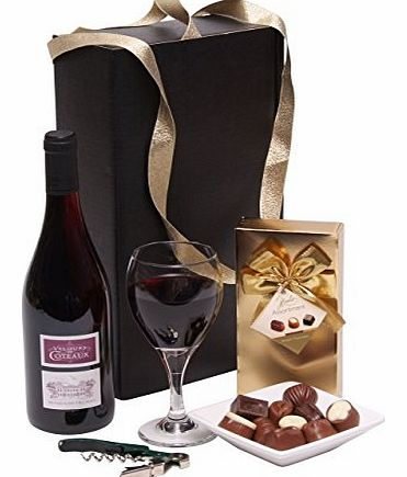 Red Wine & Chocolates Gift Set