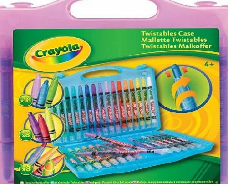 Clementoni Crayola Twistables Case (32 Pack) (Case colour may vary - Purple, Blue, Yellow)
