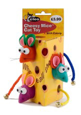 Cleo Cheesy Mice Cat Toys (3 Mice per Pack)