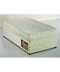 Cloud nine riga single divan firm mattress slide storage for Single divan bed with slide storage