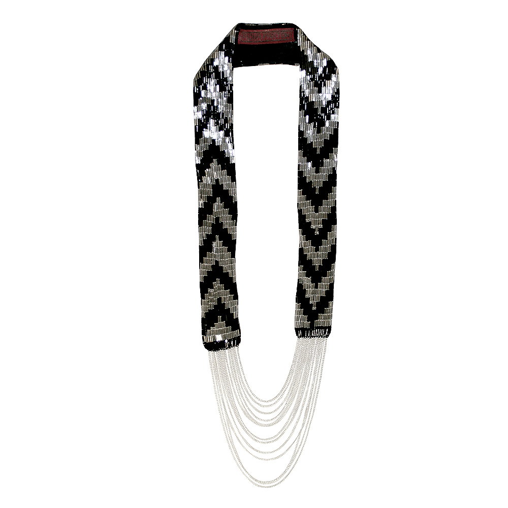 Necklace - Black and Silver