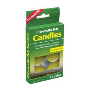 Coghlan s Citronella Tub Candles - Pack of 6