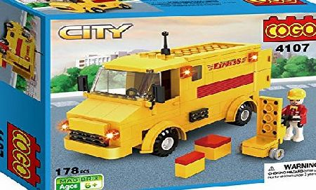 Cogo  For LEGO Style tar City Cteator Creationary Technics Dinky Master Cars 178 Pieces Express Vehicles DIY toy Car Brick Builders Set Creative Toys Christmas Unusual Puzzle Gift For Kids Boys Girls T
