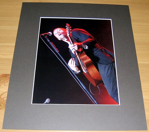 - CHRIS MARTIN - SIGNED & MOUNTED PHOTO